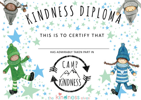 Camp Kindness Certificate
