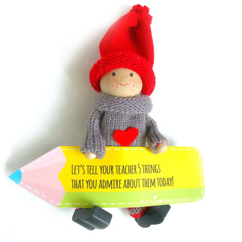 Kindness Elf with Pencil