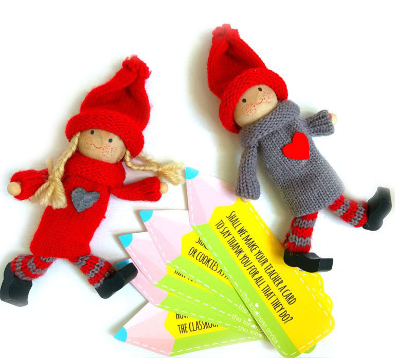 Kindness Elves with Pencils