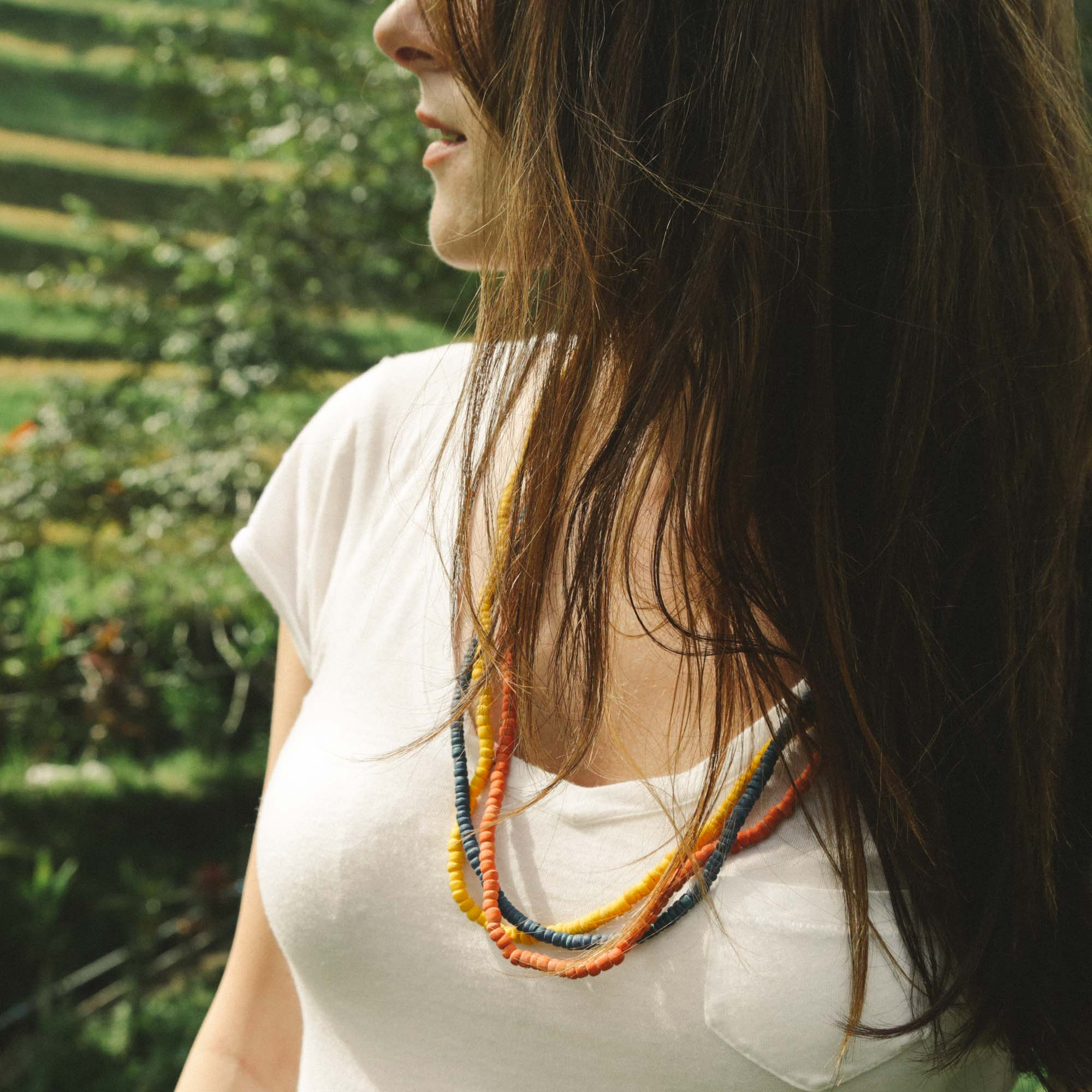 Native Color in Bali - All Natural Stacking Necklace 02