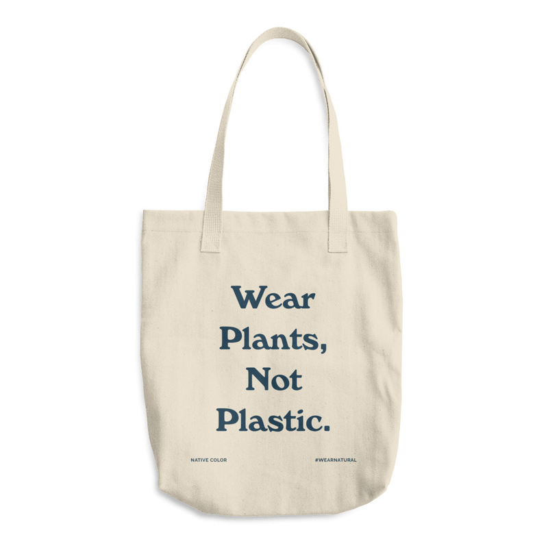 Wear Plants, Not Plastic Tote Bag