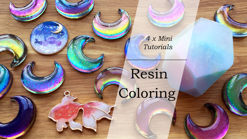 4 Mini Resin Tutorials: Resin Coloring