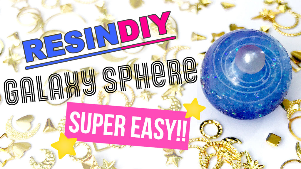 Super Easy Way to Make Resin Galaxy Sphere