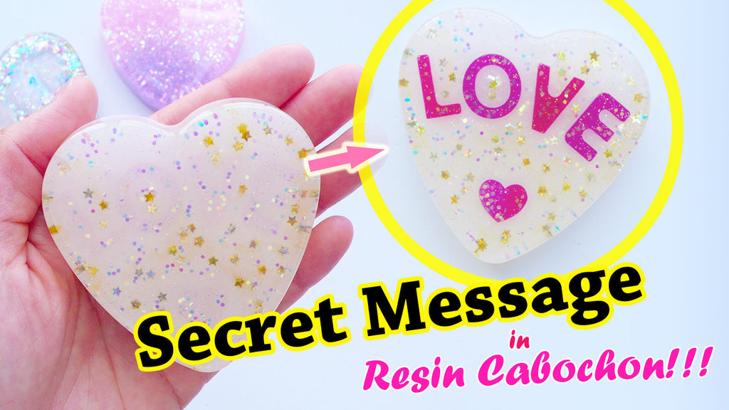 Epoxy Resin Tutorial: Hidden Message in Resin Cabochon + GIVEAWAY!