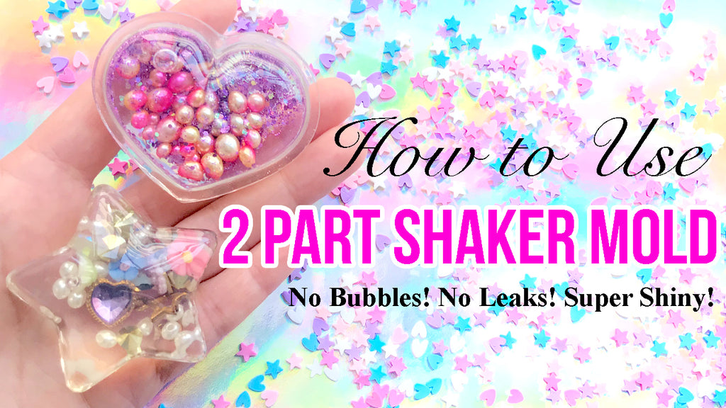 How to use 2 part shaker mold (No bubbles! no leaks! super shiny!)