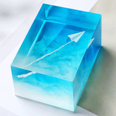 Paper Airplane Resin Inclusions | 3D Paper Aeroplane Embellishments for Resin Craft | Resin Jewelry DIY (2 pcs / 9mm x 13mm)