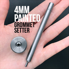 4mm Painted Grommet Setter | Hammer Handsetter for Eyelets | Leather Tool | Kawaii Craft Supplies