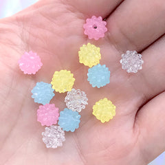 Konpeito Candy Beads | Japanese Star Sugar Candies | Fake Sweets Jewelry DIY | Kawaii Craft Supplies (12 pcs / Pastel Color Mix / 8mm)