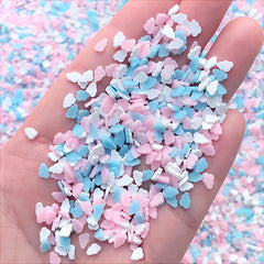 Cloud Polymer Clay Slices in Pastel Color | Small Bits for Resin Shaker Charm DIY | Kawaii Nail Art Decoration (5 grams)