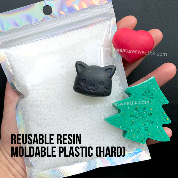 Reusable Resin | Moldable Plastic (Hard) | Mouldable Thermoplastic Beads (100g / White)