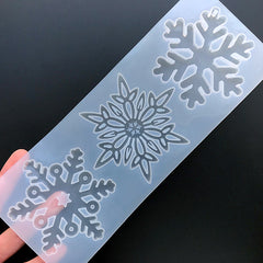 Large Snowflake Silicone Mold Assortment (3 Cavity) | Christmas Ornament DIY | Holiday Embellishment Making | Resin Art Supplies