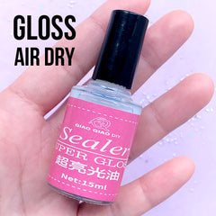 Super Gloss Sealer for Polymer Clay Air Dry Clay Craft | Shiny Top Coating for Resin Crafts | Glossy Top Coat (15ml)