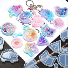 Jingle Bell Shaker Silicone Mold | Cute Resin Shaker Charm Making | Kawaii Decoden Cabochon with Waterfall Effect DIY (56mm x 51mm)
