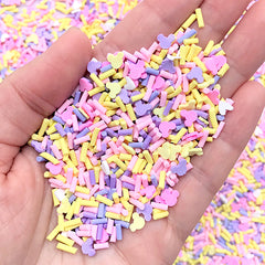 Colorful Chocolate Sprinkles for Fake Food DIY | Embellishments for Resin Shaker Charm (Purple Pink Yellow White Mix / 5 grams)