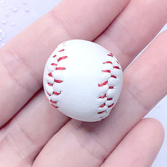 3D Baseball Charm | Miniature Sport Ball Pendant | Sports Jewelry DIY (1 piece / 22mm x 26mm)