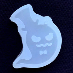 Ghost with Hat Silicone Mold | Halloween Mould | Kawaii Goth Decoden Mold | Clear Soft Mold | UV Resin Art Supplies (35mm x 47mm)