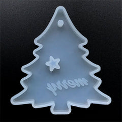 Christmas Tree Ornament Silicone Mold for Resin Art | Holiday Home Deco | UV Resin Mould | Epoxy Resin Crafts (83mm x 90mm)
