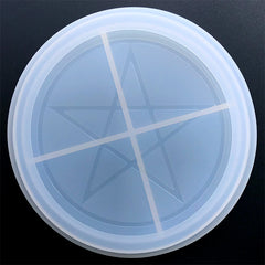 Pentagram Trinket Dish Silicone Mold | Pentacle Tray Mould | Pagan Altar Decoration DIY | Resin Art Supplies (153mm)
