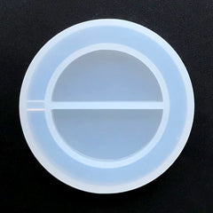 Circle Grippy Shaker Silicone Mold | Round Resin Shaker Charm DIY | Kawaii Decoden | Resin Craft Supplies (49mm)