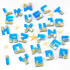 Pixel Letters Silicone Mold (26 Cavity) | Capital Letter Mould | Uppercase Alphabet A to Z Mold | Resin Jewelry DIY (17mm)