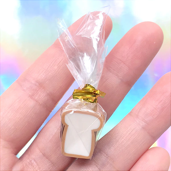 Miniature Bread Packet | Dollhouse Breakfast | Doll Food | Kawaii Craft Supplies (1 piece / 14mm x 16mm)