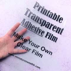 Printable Transparent Adhesive Film for Laser Printer and Inkjet Printer | Make Your Own Stickers | Clear Film DIY for Resin Craft (A4 Size / 5 pcs)