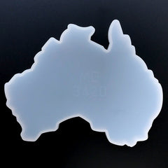 Oceania Continent Silicone Mold | Australia Map Mould | Resin Coaster Making | Resin Mold Supplies (142mm x 114mm)