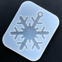 Big Snowflake Silicone Mold | Christmas Ornament Making | Clear Soft Mould for Resin Art (63mm x 80mm)