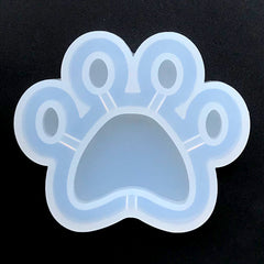 Paw Shaker Silicone Mold | Animal Shaker Charm Mould | Kawaii Resin Crafts | Shake Shake Decoden Cabochon DIY (64mm x 53mm)