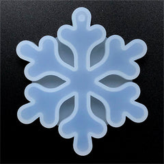 Snowflake Ornament Silicone Mold for Resin Craft | Christmas Home Decor | Epoxy Resin Mould | UV Resin Clear Mold (65mm x 75mm)