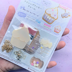 Sweet Icing Cookie Charm DIY | Fake Sugar Cookie Pendant Making | Faux Food Jewelry | Kawaii UV Resin Craft Kit