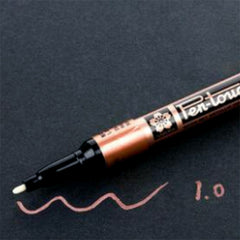 Sakura Pen-Touch 1mm Fine Point Oil Based Marker | Permanent Paint Marker in Metallic Colour (1mm / Copper)