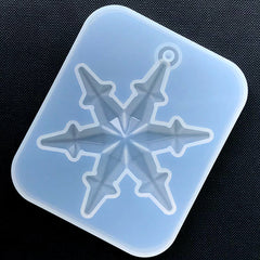 Christmas Snowflake Ornament Silicone Mold | Soft Clear Mould for UV Resin Craft | Winter Embellishment DIY (65mm x 81mm)