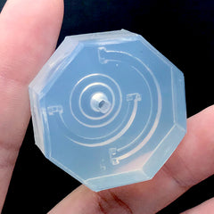 3D Dollhouse Miniature Earth Globe Stand Silicone Mold | Clear Soft Mould for UV Resin | Kawaii Resin Art Supplies