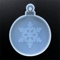 Christmas Ornament with Snowflake Silicone Mold for Resin | Home Decoration | Holiday Craft Supplies (61mm x 77mm)