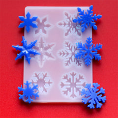 Christmas Snowflake Silicone Mold Assortment for Resin Craft (6 Cavity) | Snow Flake Cabochon Mould | Festival Embellishment DIY