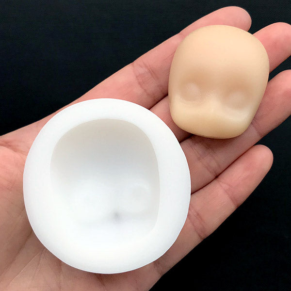 Anime Doll Face Silicone Mold | Chibi Head Mould | Epoxy Resin Mold |  Kawaii Craft Supplies (32mm x 38mm)