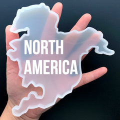 North America Continent Silicone Mold for Resin Art | World Map Mold | Make Your Own Coaster | Home Decor (138mm x 150mm)