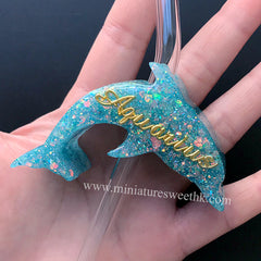 Dolphin Straw Topper Silicone Mold | Marine Life Mould | Beach Decor | Epoxy Resin Crafts (71mm x 43mm)