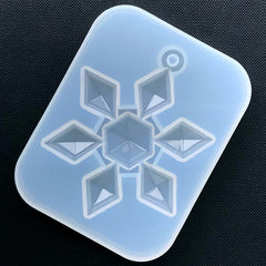 Large Snowflake Silicone Mold | Christmas Ornament DIY | Holiday Embellishment Making | Resin Art Supplies (58mm x 74mm)