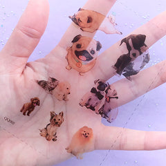 Dog Photography Clear Film Sheet for UV Resin Craft | Animal Embellishments | Pet Jewellery DIY | Resin Fillers