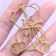 Silver Yellow Plated Carousel Charm 46mm