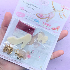UV Resin Icing Cookie Charm Craft Kit | High Heel Pendant DIY | Kawaii Resin Jewelry Making