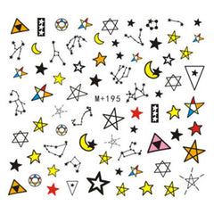 Constellation Nail Art Decal Sticker | Horoscopes Zodiac Signs Star Water Transfer Sheet | Astrology Embellishment for Resin Craft