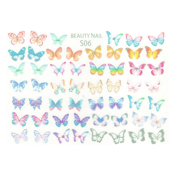 Dreamy Butterfly Shrink Plastic Sheet | Kawaii Jewelry DIY | 3D Embellishment Making | Nail Designs (1 Sheet / Translucent)