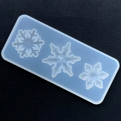 Assorted Snowflake Silicone Mold (3 Cavity) | Christmas Cabochon DIY | Festive Embellishment Mold | Resin Craft Supplies