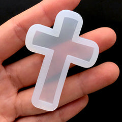 Latin Cross Silicone Mold | Christian Jewellery Supplies | Soft Clear Mold for UV Resin | Epoxy Resin Mould (35mm x 50mm)