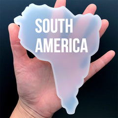South America Continent Map Silicone Mold | Resin Coaster Mould | Resin Craft Supplies (109mm x 148mm)