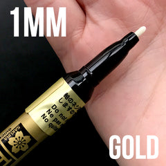 Metallic Gold Sakura Pen-Touch 1mm Fine Point Paint Marker | Permanent Oil Based Marker (1mm / Gold)
