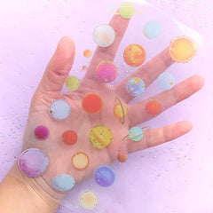 Planet Stickers | Cosmos Clear Film | Star Embellishments | Solar System PVC Sticker | Filling Materials for Resin Craft